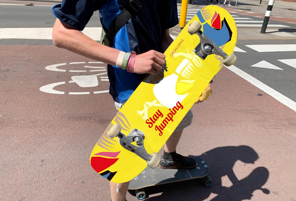 Skateboard design crealuras