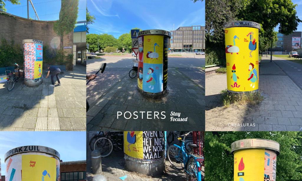 crealuras posters in amsterdam