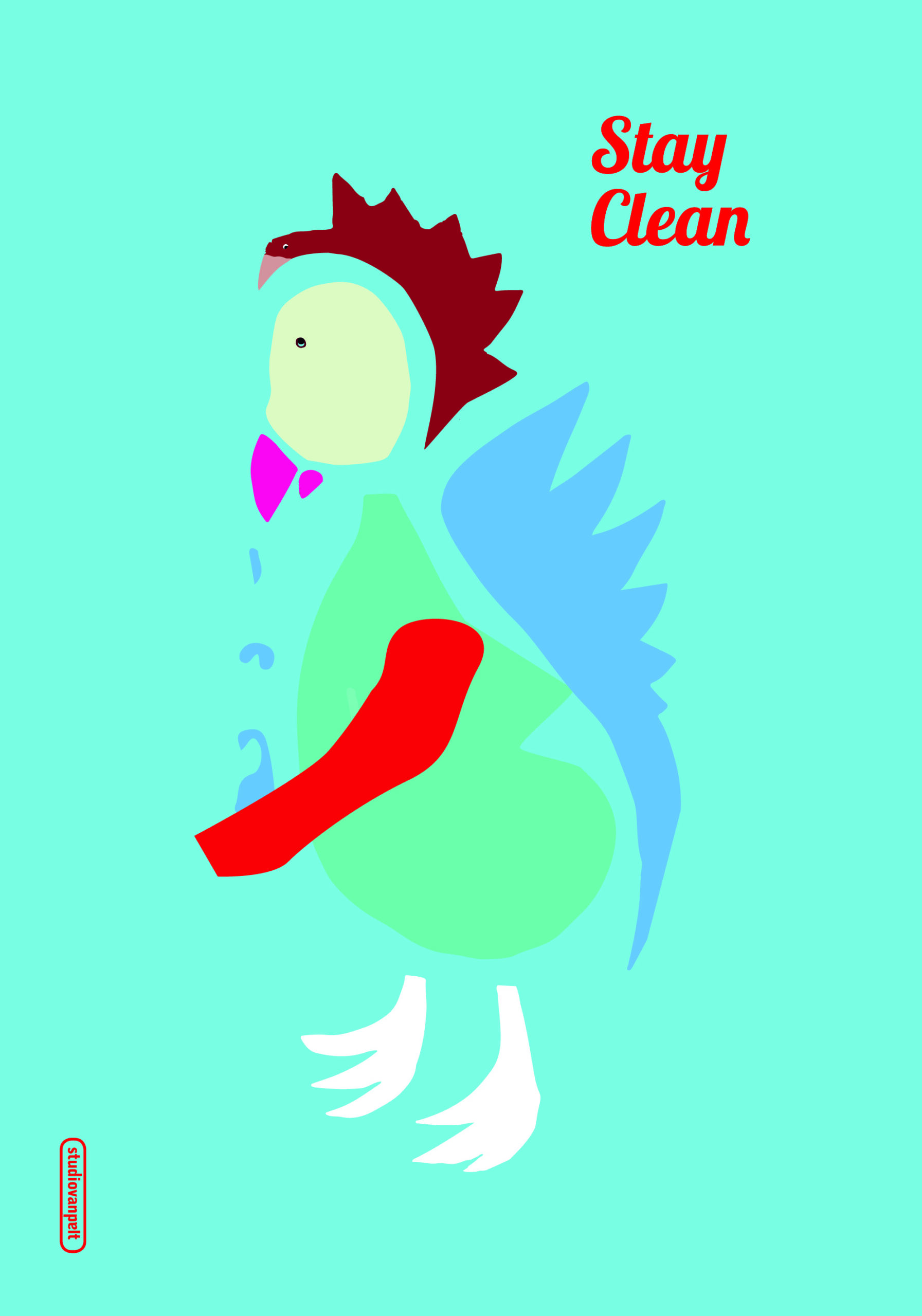 stay-clean poster design crealuras
