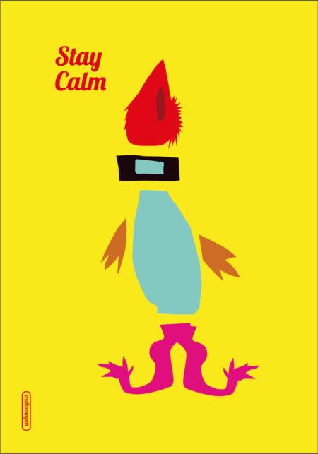 Stay Calm poster design for crealuras