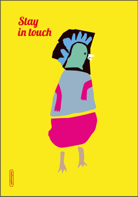 stay in touch poster by crealuras
