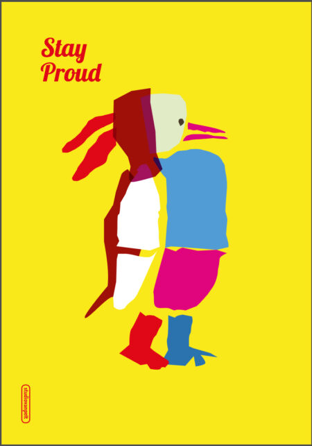 stay-proud poster design crealuras